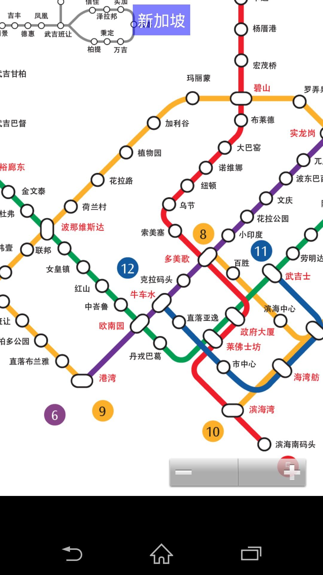西安,香港,台北地铁高清图, 国外地铁地图韩国首尔,新加坡,印度新德里